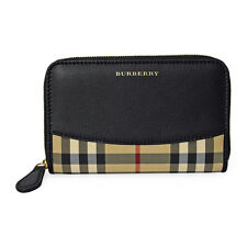 Burberry Marston Horseferry Check Zip Around Wallet - Black
