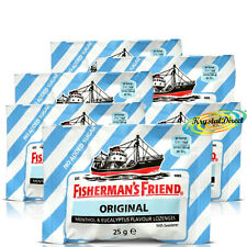 6x Fisherman's Friend Sugar Free Original Menthol Eucalyptus Lozenges