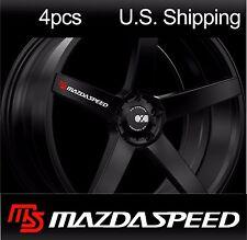 4 MAZDASPEED sticker decals MAZDA 3 6 Door handle Wheels Mirror Rims Sport WHITE