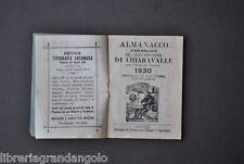 Calendario Almanacco Universale Gran Pescatore Chiaravalle Cabala  Genova 1930
