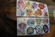 PIXIE PALS Disney Tinkerbell Fairies Japan Anime 2 sheets - Lot of 15 stickers!