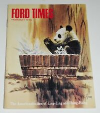 FEBRUARY 1975 FORD TIMES MAGAZINE—Arthur Barbour Pandas Ling-Ling & Hsing-Hsing
