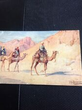 Postcard Used 1914 Tony Binder Camels In The Desert No Stamp M47800