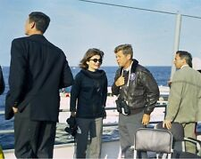 President John F. Kennedy and Jackie attend America's Cup race New 8x10 Photo