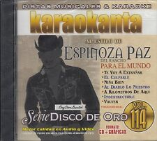Espinoza Paz Serie Disco De Oro Vol 114 Karaoke New Sealed