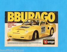 TOP987-PUBBLICITA'/ADVERTISING-1987- BURAGO - PORSCHE 959 RAID Scala 1:24