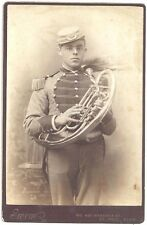 Cabinet Photo by Thomas Swem of St Paul - Man Holding a Helicon (Tuba) c1880s