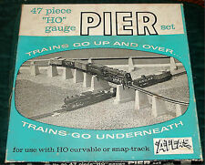 ATLAS - 47 pc OVER & UNDER #80 PIER SET - OB - (B) - HO TRAIN