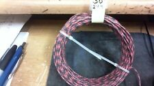 JUNE special,50ft Western Electric 24g cloth covered wire,BLACK-RED