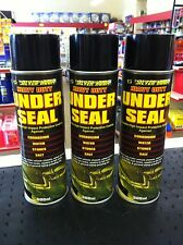 3x 500ml H/DUTY UNDERSEAL UNDERGUARD UNDERBODY PROTECTION AEROSOL SPRAY PAINT