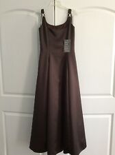 Vintage Scott McClintock Dress Gown Size 6 Brown Sleeveless Homecoming Holiday