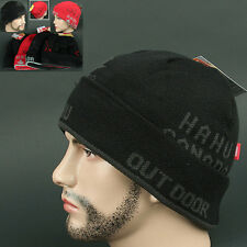 Beanie CANADA BLACK dark GRAY Skull Head Wrap Knit Outdoor Sports Hat Ski Unise