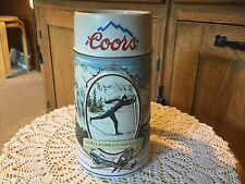 1991 COORS ROCKY MOUNTAIN LEGEND STEIN, X co. skiier