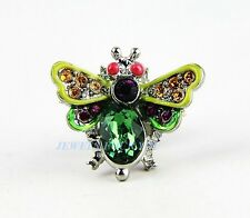 JAY STRONGWATER GORGEOUS TACK FLY CLEM PIN BROOCH MINT SWAROVSKI NEW BOX