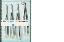 4 Fine ROOT TIP Extraction Forceps Dental Instruments German Stainless Steel  :)