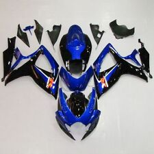 Blue ABS Plastic Bodywork Fairing Cowl Kit  For SUZUKI GSXR 600 750 06-07 K6 21B