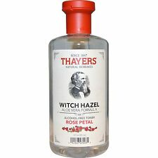 Thayers, Rose Petal Witch Hazel, with Aloe Vera, Alcohol-Free Toner, 12 fl oz