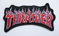 "Red Thrasher skate PATCH Badge 4.5x8.5 cm 1.75""x3.75"" E"