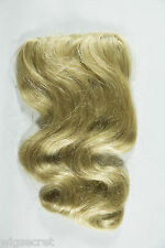 Premium Quality Wavy Human Hair Clip 16 in Long Extension Piece