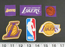 Basketball Los Angeles Lakers Fabric Iron On Appliques NBA No Sew Logo Shirt Art