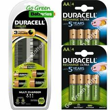 Duracell Universal 8 Slot Charger+ 8 x AA 2500 mAh Rechargeable Batteries CEF22