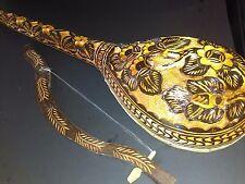 Vintage Hand Carved Goat Head Gusle Fiddle Instrument