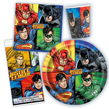 Justice League DC Comics Superhero Birthday Party Tableware Pack Kit For 8