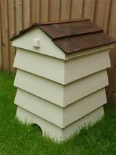 Stunning Beehive Compost Bin cream with stained roof storage box