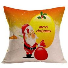 Christmas Cartoon Decoration Home Sofa Decor Pillow Case Cushion Cover G5