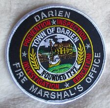 "Darien Fire Marshal's Office Patch - Connecticut - 4"" x 4"""