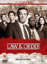 Law and Order: NBC Series - Complete Season 6 DVD 6 Disc Box Set New
