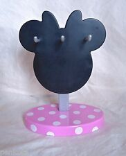 MINNIE MOUSE NECKLACE JEWELRY HANGER HOLDER ORGANIZER-PINK-DISNEY STORE LONDON