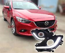 2x White LED Daytime Day Fog Light DRL Run For Mazda 6 M6 ATENZA 2013-2014 Lamp