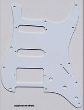 USA-MadeOFF-WHITE 1-Ply Strat SSH, Stratocaster Replacement Pickguard,Scratch PL