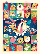 """Mondo Poster Print  """"A Nickelodeon Show"""" Limited Ren and Stimpy"""