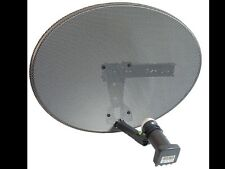 MK4 2016 ZONE 1 SKY DISH 60CM FREESAT SATELLITE DISH WITH QUAD!! LNB PVR HD SKY+