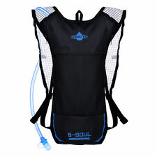 Vbiger Hydration Pack with 3L Water Bladder Breathable Backpack Blue
