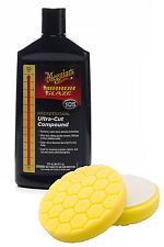 "Meguiars M105 Ultra-Cut Compound + Flexipads 5.5"" Yellow Hex-Logic Heavy Cut Pad"
