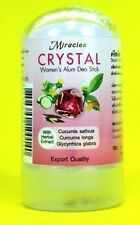 LADY DEODORANT ANTIPERSPIRANT NATURAL CRYSTAL ALUMINUM IN FOR WOMEN ROCK STONE