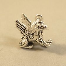 .925 Sterling Silver 3-D GRIFFIN CHARM NEW Pendant Gryphon Lion Eagle 925 MY37