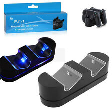 Stylish LED Dual Charger Dock USB Charging Stand For PS4 PlayStation Controller
