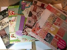 Lot of 12 x 12 Scrapbook Paper pads, Multi color Card stock