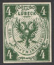 Lübeck Mi. Nr. 5ND* LUXUS Befund Mehlmann BPP 300 Euro