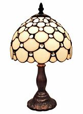 Amora Lighting Tiffany Style White Table Lamp 8 In AM116TL08