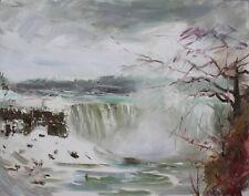 Niagara Falls, storm, art print on canvas by Star