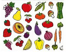 Mrs Grossman's Reflections Fruits Vegetables Veggies Scrapbook Stickers 2 Sheets