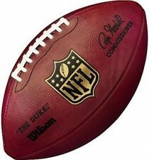 "WILSON AUTHENTIC NFL OFFICIAL ON-FIELD GAME MODEL FOOTBALL ""THE DUKE"" & GOODELL"