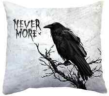 EDGAR ALLEN POE RAVEN DECOR THROW PILLOW  - 14 x 14  ~ NEW