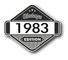 Vintage Edition 1983 Classic Retro Cafe Racer Style Vinyl Motorcycle car sticker