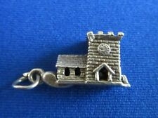 VINTAGE STERLING SILVER BRACELET CHARM CHURCH OPENING TO A COUPLE